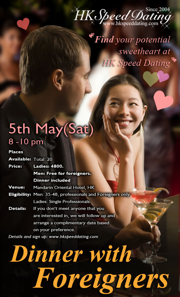 Speed dating hong kong white privilege