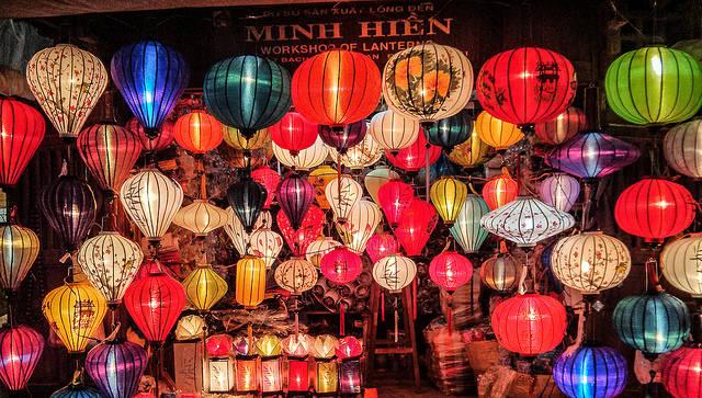 Chinese Lantern Workshop in Hoi An, Vietnam