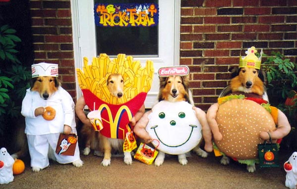Why don't you turn your doggies into cute, yummy fast food? Image from Le Geek.