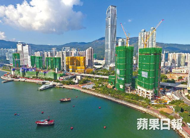 Sun Hung Kai's The Pavilia Bay and Cheung Kong's Ocean Pride are the main new projects in Tsuen Wan early next year. Image from Apple Daily HK.