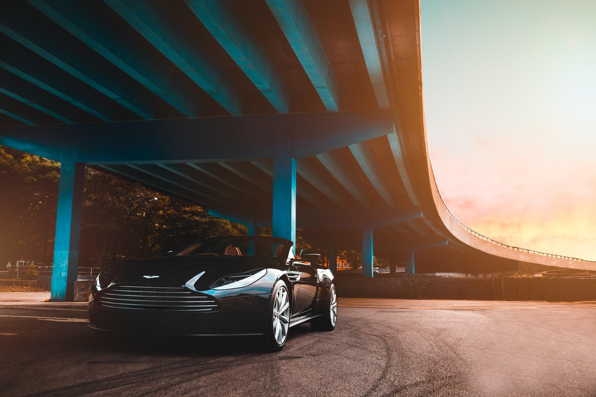a-car-under-bridge