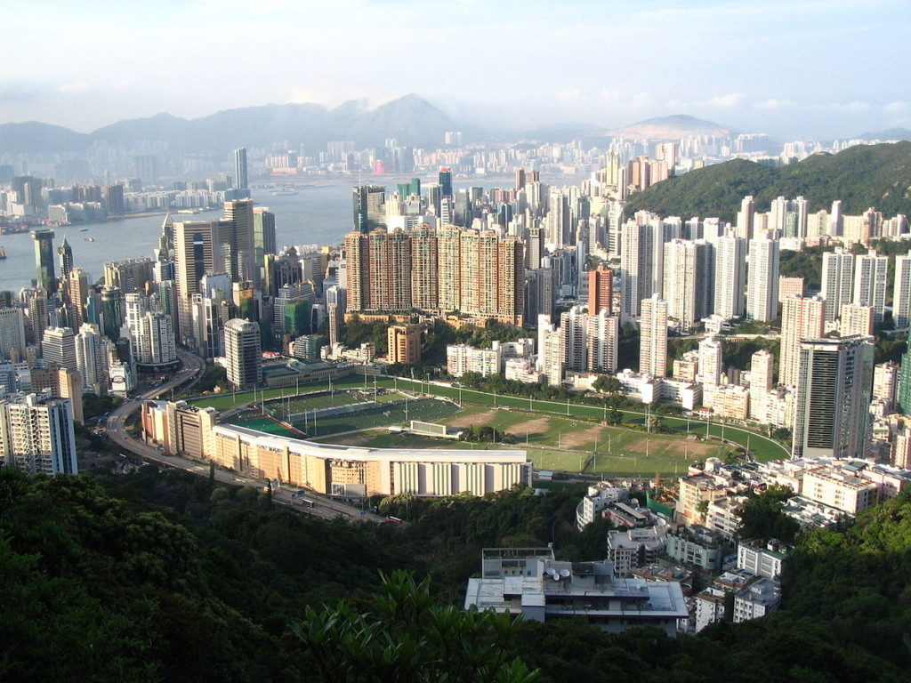 跑馬地。圖片來源:Minghong - Own work, GFDL.
