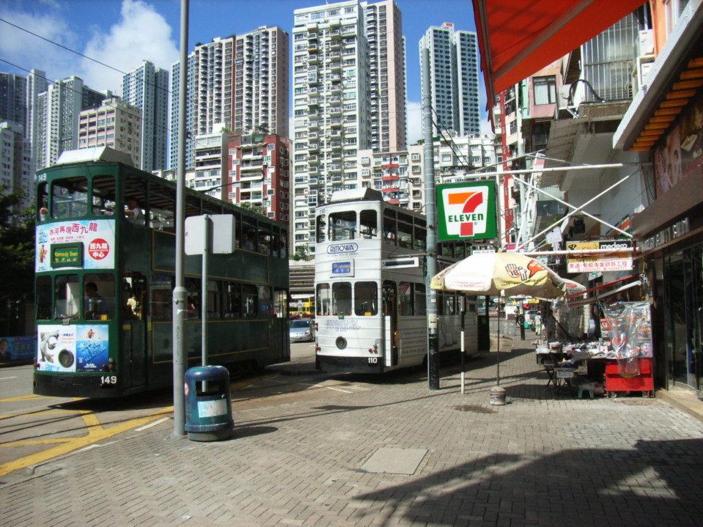 跑馬地居民可乘坐電車,直達銅鑼灣及灣仔。圖片來源:Wikipedia。