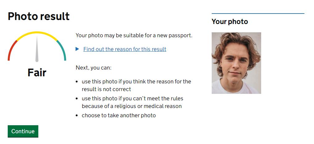 上傳護照相,回答第 2 部分個人資料問題