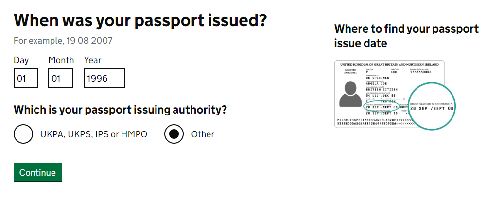 When was your passport issued