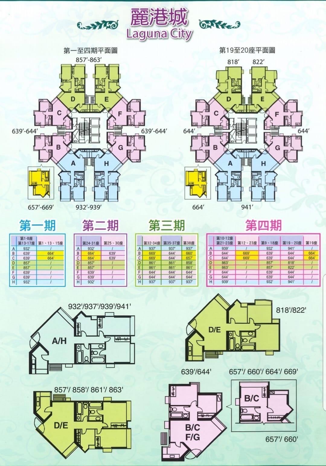 麗港城平面圖